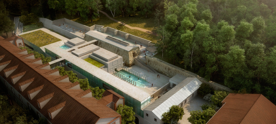 Mangado architects gana el concurso para el Thermoludic Center en Amélie-les Bains