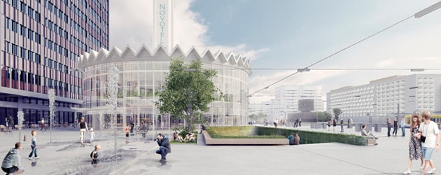 Resultados del Concurso Changing the Face 2013 Rotunda Warsaw